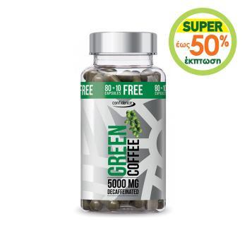 Alfa Choice - Confidence Green Coffee Decaffeinated, 90 Κάψουλες 5000mg
