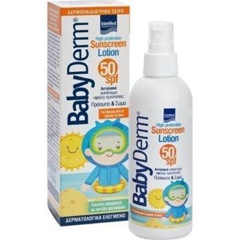 Intermed - Babyderm Βρεφικό & Παιδικό Αντηλιακό Γαλάκτωμα με Υαλουρονικό Οξύ