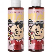 Korres - Wash Με Berries, Παιδικό Σαμπουάν & Αφρόλουτρο 2IN1 Για Κορίτσια 250ml 1+1 Δώρο