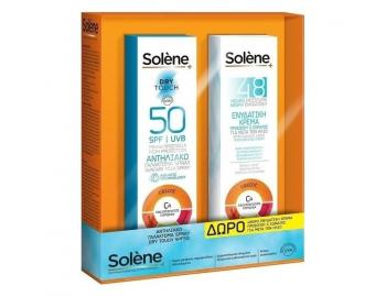 Solene - Αντηλιακό Γαλάκτωμα Spray Dry Touch SPF50 150ml & 48hrs After Sun Face & Body Cream 150ml