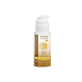 Coverderm - Filteray  Body Plus Deep Tan Milk Spf50+, 100ml.