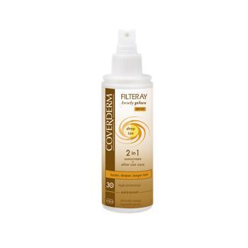 Coverderm - Filteray Body Plus Deep Tan Spf30 After Sun Spray, Αντηλιακό 100ml