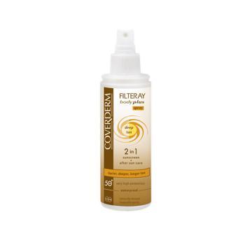 Coverderm - Filteray Body Plus Deep Tan Spray Spf50+, 100ml