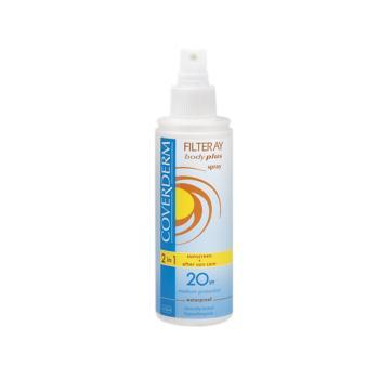 Coverderm - Filteray Body Plus Spray, Αντηλιακό Σπρέι Σώματος Spf20, 150ml