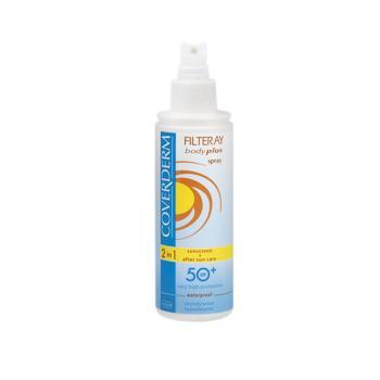 Coverderm - Filteray Body Plus Spray, Αντηλιακό Σπρέι Σώματος Spf50, 150ml