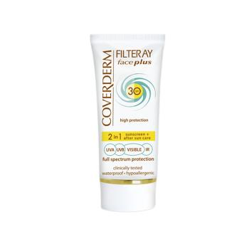 Coverderm - Filteray Face Plus 2 in 1 Sunscreen & After Sun Care Normal Skin Spf30+, 50ml