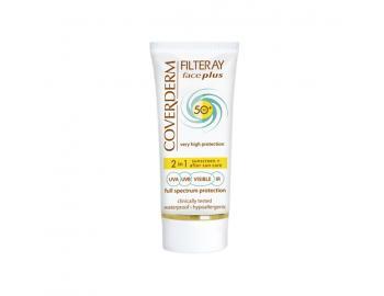 Coverderm - Filteray Face Plus Spf50 Tinted, Αντηλιακή Κρέμα Προσώπου για Ξηρές/Ευαίσθητες Επιδερμίδες 50ml