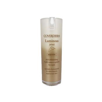 Coverderm - Luminous Yeux Supreme, Λευκαντική Αντιγηραντική Κρέμα Ματιών, 15ml