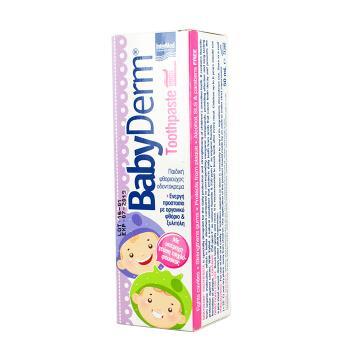 Intermed - Babyderm Toothpaste, Παιδική Φθοριούχος Οδοντόκρεμα με γεύση Τσιχλόφουσκα 50ml