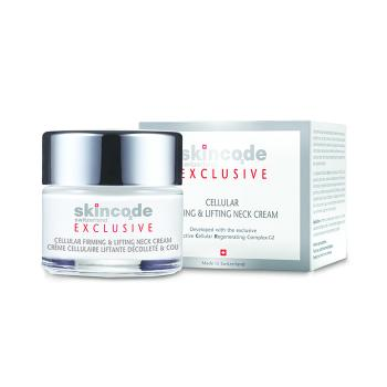 Skincode - Exclusive Cellular Firming & Lifting Neck Cream, Αντιγηραντική Συσφικτική Κρέμα Λαιμού & Ντεκολτέ 50 ml